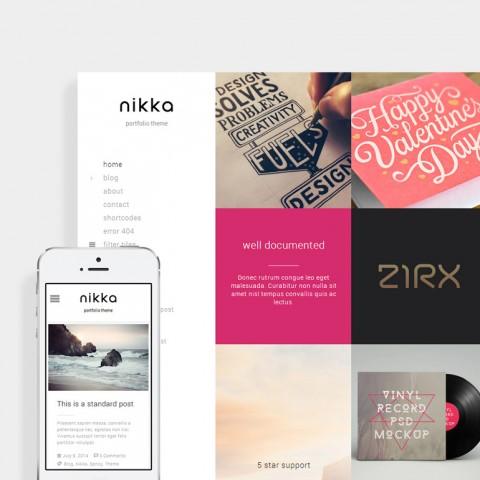 طراحی قالب وردپرس nikka