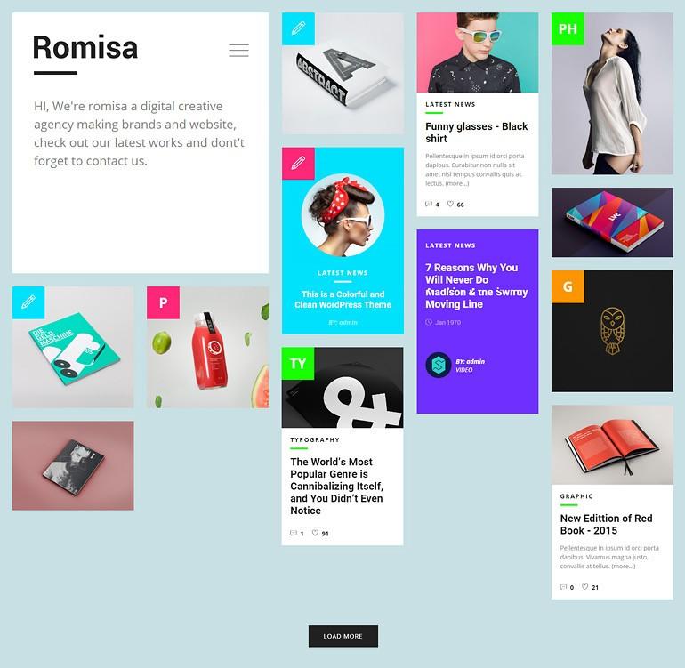 طراحی قالب وردپرس Romisa