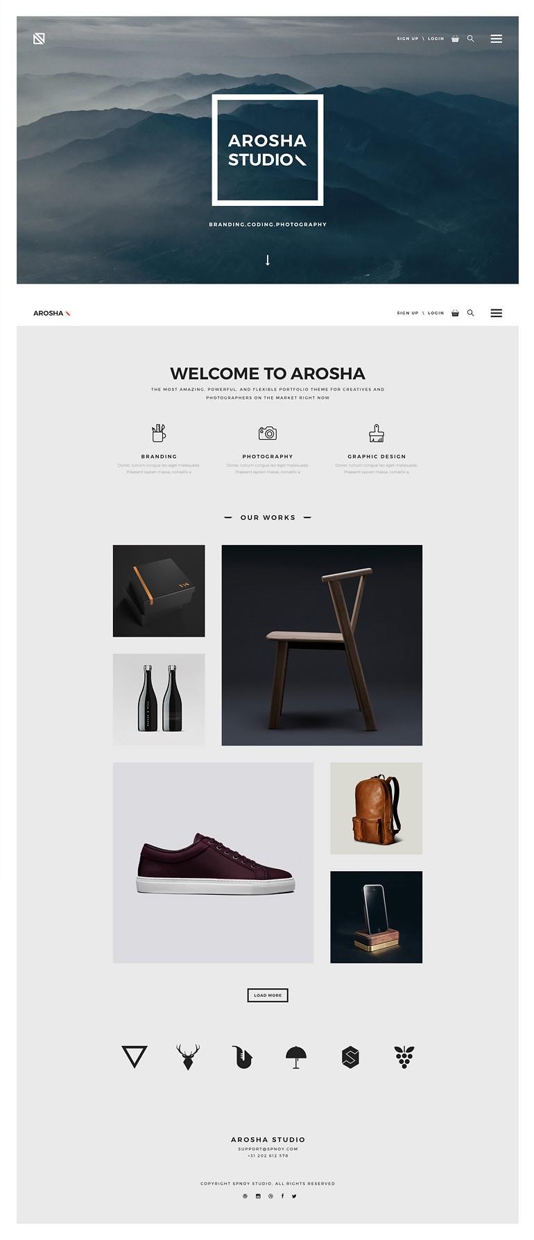 طراحی قالب وردپرس Arosha