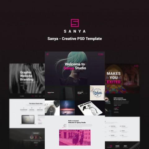 طراحی قالب وردپرس Sanya
