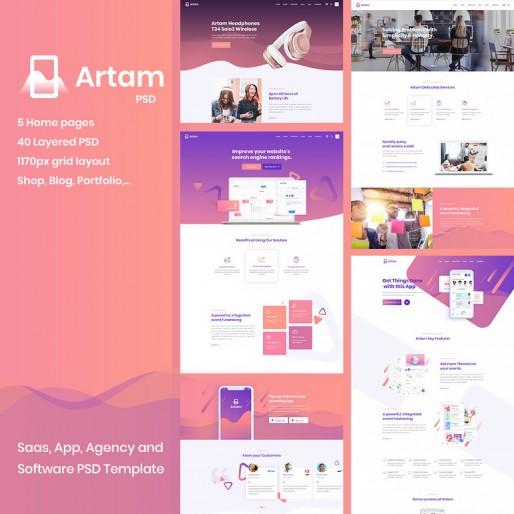 طراحی قالب PSD Artam